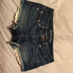 Blue jean shorts from American eagle. size 4